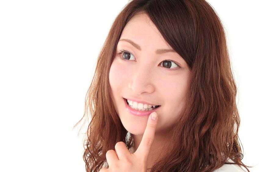 歯がきれいな女性